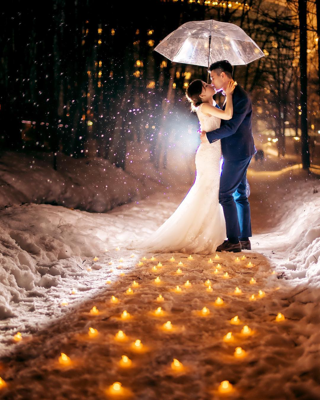 讓朋友羨慕不已的婚紗-❤️北海道雪景婚紗❤️