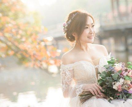 [造型] 仙女新娘必備款-乾燥永生花圈