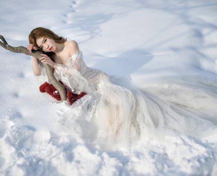 [北海道婚紗]零下 -4度拍婚紗,再冷也值得!