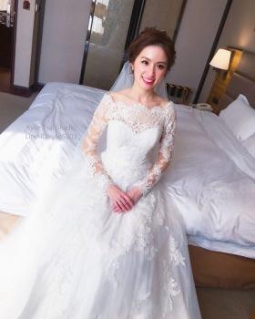 kylie bride-雅芳白紗造型