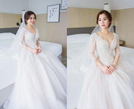 【白紗迎娶造型】 / 女孩最抵擋不了仙氣飄飄的白紗造型 / 台北萬豪酒店
