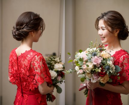 【新娘造型】文定盤髮造型|台北萬豪酒店