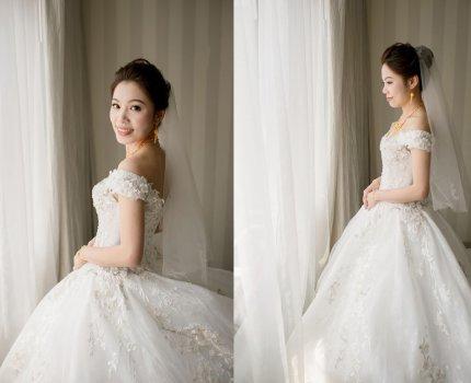 【新娘造型】迎娶白紗造型|維多麗亞酒店