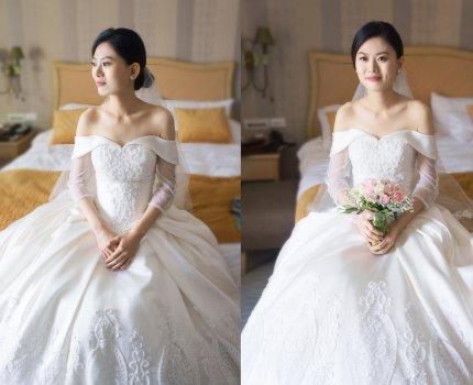 【新娘造型】白紗進場造型|台北翰品酒店